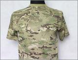 軍隊の戦闘の綿のTシャツ