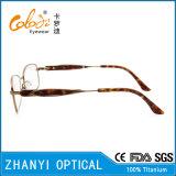 Lunettes de lunettes optiques pour lunettes de lunettes à lunettes de titane à haute teneur en béton Titanium Eyewear (9321)
