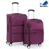 ユニバーサル車輪の荷物が付いている学生のオックスフォードの布のスーツケース