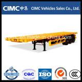 Cimc良質の熱い半販売3の車軸平面のトレーラー