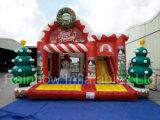 Castelo Bouncy de salto inflável do Natal quente da venda 2016 para miúdos