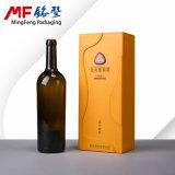 Caja de madera conveniente moderna del conjunto del vino 2017 envuelta con cuero