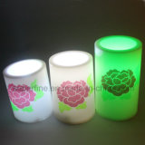 Velas plásticas do diodo emissor de luz da decoração Home da proteção ambiental