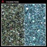 Couro decorativo do plutônio do Glitter durável