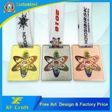 OEM 어떤 도금 색깔 (XF-MD19)를 가진 싼 주문 기념품 주자 메달