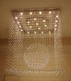 Lámpara cristalina de lujo del techo del cuadrado del proyecto del hotel con CCC, UL