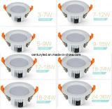Recorte 18W SMD LED Downlight del precio de fábrica 6inch 160-165m m