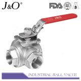 Válvula de esfera sanitária do aço inoxidável com atuador