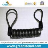 Dispositivo retractable del acero inoxidable del color rojo del cable seguro fuerte de la bobina