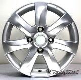Rueda de plata de la aleación de aluminio de 15 pulgadas con el OEM y el ODM: