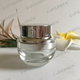 Skincareの包装のための15g透過ガラス装飾的な瓶(PPC-GJ-015)