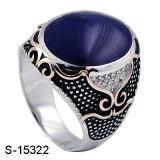 Monili d'argento del nuovo modello 925 buoni vendendo l'anello dell'uomo dello smalto