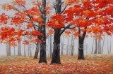 Pintura al óleo para la calle en el bosque