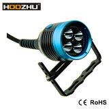 ダイビングのためのHoozhu Hu33 LEDの懐中電燈最大4000 Lmの再充電可能な懐中電燈