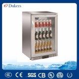 Refrigerador de la barra de la parte posterior del acero inoxidable de Dukers 138L, puerta del refrigerador W Ith de la cerveza sola