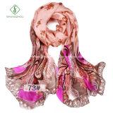 Горячий шарф шелка повелительницы Способа 100% надувательства с цветком напечатал
