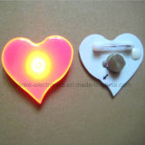 Pinos piscar do diodo emissor de luz da forma do coração do presente da promoção (3161)