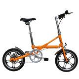 16 Zoll-Aluminiumlegierung-einzelne Geschwindigkeit ein Sekunden-faltendes Fahrrad Yz-7-16