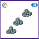 家具または食器棚のための鋼鉄によって電流を通されるM4六角形ボタンまたは鍋ヘッドねじ