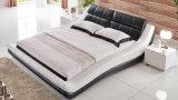 Bâti moderne de cuir véritable de modèle élégant neuf (HC579) pour la chambre à coucher
