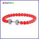 Bracelet rouge d'haltère de Fitlife de mode