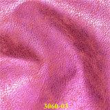 真珠色の効果のよいカラー固着浮彫りにされたPUの靴革