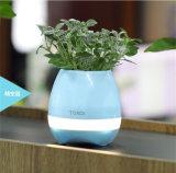 Color portable del LED que cambia el crisol de flor plástico con el mejor altavoz sin hilos de Bluetooth