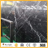 China Natural Negro Nero Marquina Mármol / Losas de piedra