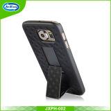 Оптовая продажа изготовления в случай сотового телефона самого нового прибытия 2017 франтовской с зажимом пояса и Kickstand для Samsung S6