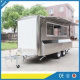 Camion degli alimenti a rapida preparazione dell'acciaio inossidabile per l'annuncio pubblicitario