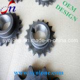 De mecanizado CNC y proceso de afeitado rueda de cadena de acero
