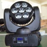DJ DMX LEDの移動ヘッドビームライトズームレンズの洗浄7X10W