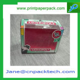 Rectángulo de empaquetado de Cradboard del regalo del PVC de ventana del juguete de papel rígido de encargo del rectángulo