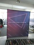 Drapeau en aluminium de publicité polychrome de tissu de bâti