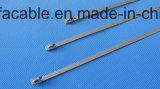 다중 자물쇠 (7X300mm)를 가진 304의 스테인리스 Zip 동점