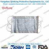 Masque protecteur remplaçable de papier de 1 pli et un respirateur particulaire utilisé par temps avec le bon prix Qk-FM011
