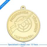 リボンが付いている卸し売り金3 Dのバスケットボールメダル