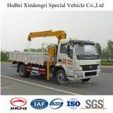 Yuejin 4.5tonのクレーンが付いている油圧貨物トラック