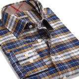 Cutton zwei Farben-Männer Plaid-Hemd