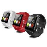 Montre intelligente rouge de la montre-bracelet U8 U de montre de Bluetooth ajustée pour l'IOS androïde de smartphones