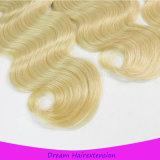Волосы мягкой и ровной платины объемной волны волос цвета 613# бразильской белокурые