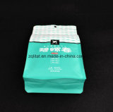 Flache Unterseiten-Fastfood- Beutel-Aluminiumfolie-Reißverschluss-Verschluss-Kaffee-Beutel Customzied Entwurf lamellierte Fastfood- Beutel-Nahrungsmittelplastiktasche