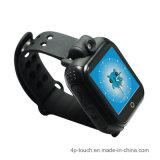 90回転2.0mのカメラ(D18)の3G WiFi GPSの腕時計の追跡者は催色する
