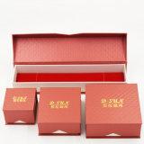 Коробка ювелирных изделий бумаги Clamshell Flip верхняя с горячий штемпелевать (J83-EX)
