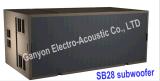 Двойник Sb28 линия блок Subwoofer диктора Woofer 18 дюймов басовая, 4000W Subwoofer