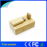 Movimentação de madeira feita sob encomenda por atacado do flash do USB do bambu com caixa do pacote