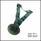 열전달 인쇄된 리본을%s 가진 수영 그리고 달리기 포상 메달