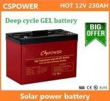 bateria profunda do gel da longa vida do ciclo de 12V 230ah para a manufatura solar de China do armazenamento
