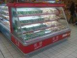 광고 방송 조정가능한 선반 청과 전시 냉각기에 의하여 이용되는 슈퍼마켓