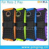 Caja híbrida del teléfono de Kickstand para Motorola Moto Z Play/E3 Power/M